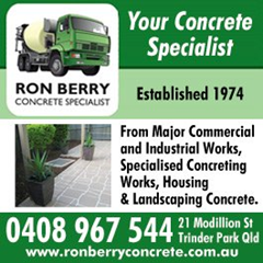 Logo for Ron Berry Concrete Ad